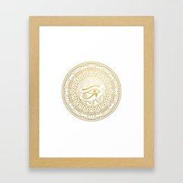Horus Eye Mandala – Egypt Framed Art Print