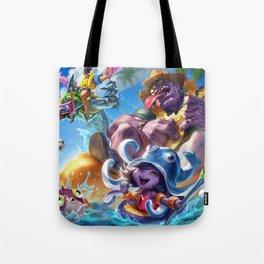 Pool Party Mundo Lulu Zac Draven Splash Art Wallpaper Background Official Art Artwork Tote Bag