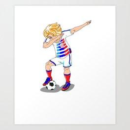 USA Soccer Player Dab Art Print