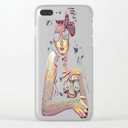 Dama De La Muerte Clear iPhone Case