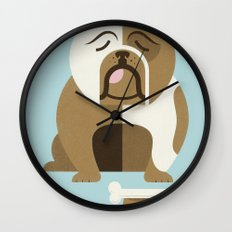Bulldog - Blue Variant Wall Clock