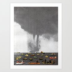 Theres a Storm Coming Art Print