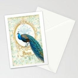 Paris Peacock Stationery Cards