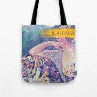 bohemian Tote Bags featuring Bohemian by PixelFarmer