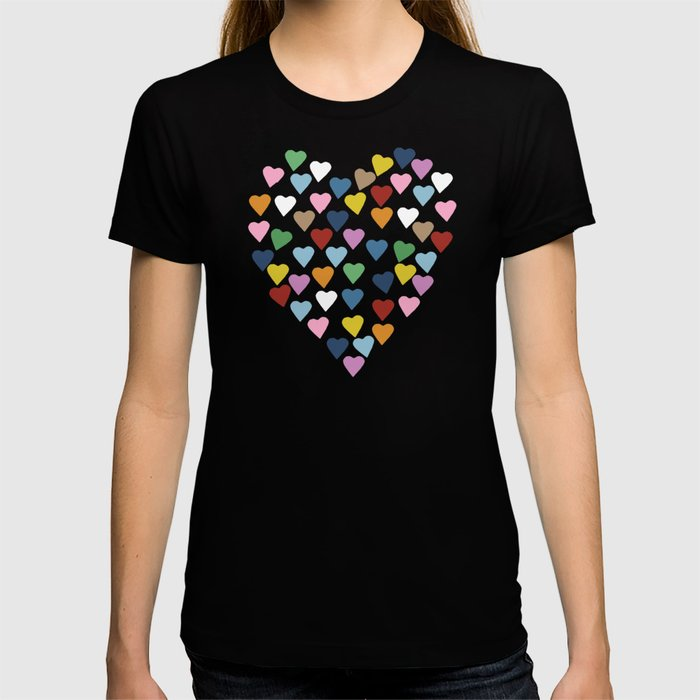 Hearts Heart Multi Grey T-shirt