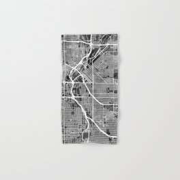 Denver Colorado Street Map Hand & Bath Towel