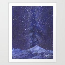 Milky Way Over Byers Peak Art Print