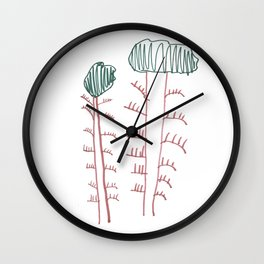 Two Trees Wall Clock
