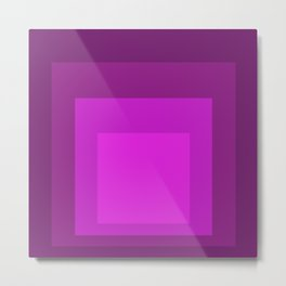Block Colors - Purple Pink Metal Print