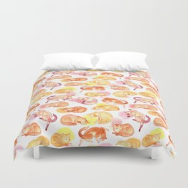 Watercolor sleeping cats Duvet Cover