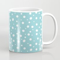 polkadot Mugs featuring White Polkadot by Laura Maria Designs