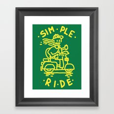 Simple Ride Framed Art Print