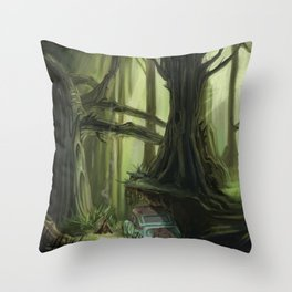 Mid-Atlantic Forest Throw Pillow