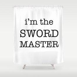 sword master Shower Curtain