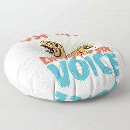 Trex dinosaur voice funny saying Floor Pillow