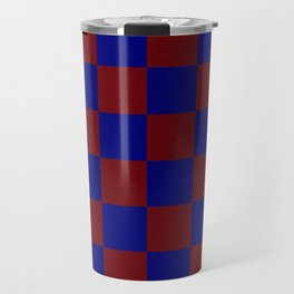 Red & Blue Square Travel Mug