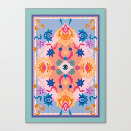 Eye Rug Canvas Print