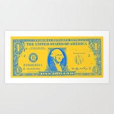 YELLOW MONEY Art Print