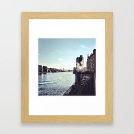 At the East River Framed Art Print