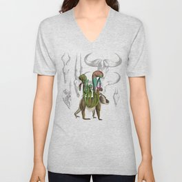 Mandrillus evolution Unisex V-Neck