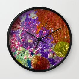 Painted Fields of Flowers Wall Clock