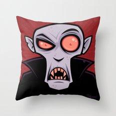 Count Dracula Throw Pillow