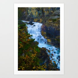 White Falls along the Berg Lake Trail in BC Art Print