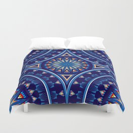 Blue Fire Keepers Duvet Cover