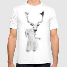 deer girl Mens Fitted Tee White MEDIUM