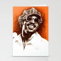 stevie nicks Stationery Cards featuring Stevie Wonder by ChrisGreavesArt