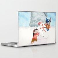 lilo and stitch Laptop & iPad Skins featuring Lilo and Stitch by Walko