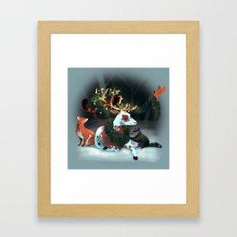 Holiday Spirit Framed Art Print