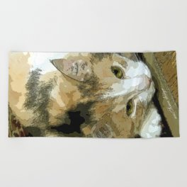 My book Collection Peanut & Lily Beach Towel