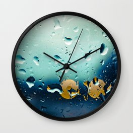 Water bokeh Wall Clock