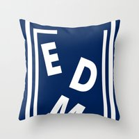 edm Throw Pillows featuring EDM (simple shapes) by DropBass