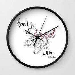 hard days (acomaf) Wall Clock