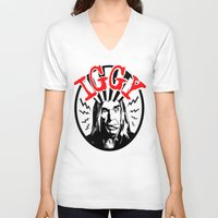 iggy V-neck T-shirts featuring There is Only ONE Iggy  |  Iggy Pop by Silvio Ledbetter
