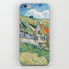 Thatched Cottages and Houses by Vincent van Gogh iPhone & iPod Skin