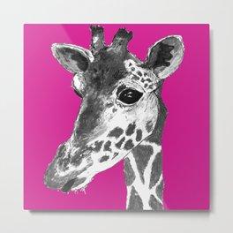 Pink Geoff Metal Print