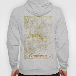 Canberra Map Gold Hoody