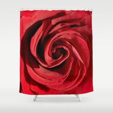 Red rose in LOVE- Roses Flowers Floral Shower Curtain