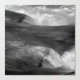 Never stop flowing.... Mountain river Canvas Print