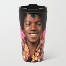 Jackson as a guru kid with afro Travel Mug