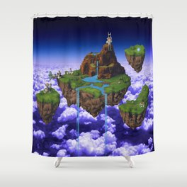 Floating Kingdom of ZEAL - Chrono Trigger Shower Curtain