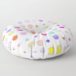 Rainbow pastel tulip grid Floor Pillow