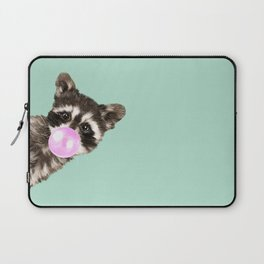 Bubble Gum Baby Raccoon Laptop Sleeve