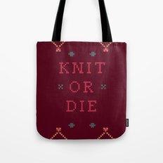 Knit or Die Tote Bag