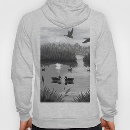 The Pond Black and White Hoody