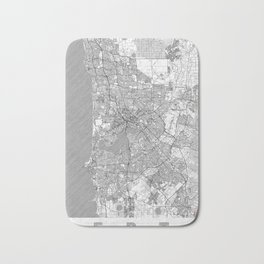 Perth Map Line Bath Mat