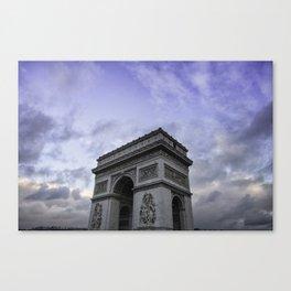 The Arc de Triomphe de l'Etoile Canvas Print